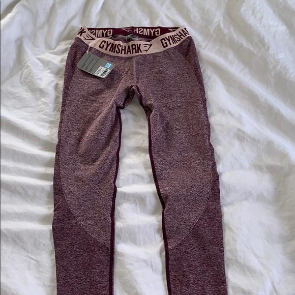 883d170f593ce Gymshark Pants | Flex Leggings Dark Ruby Marlblush Nude | Poshmark